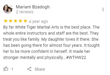 4, White Tiger Martial Arts  Wayne, NJ